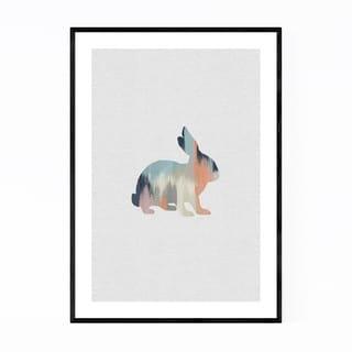 Noir Gallery Pastel Abstract Rabbit Animal Framed Art Print