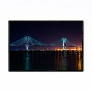 Noir Gallery Charleston South Carolina Bridge Framed Art Print
