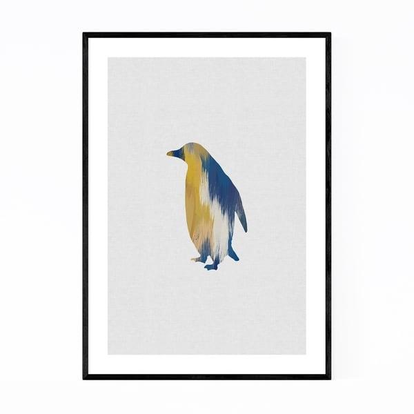 Noir Gallery Abstract Penguin Animal Bird Framed Art Print