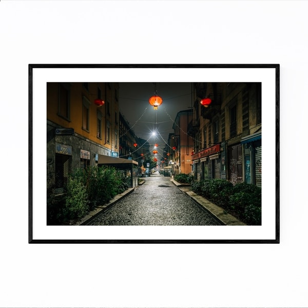 Noir Gallery Chinatown Milan Italy Photo Framed Art Print