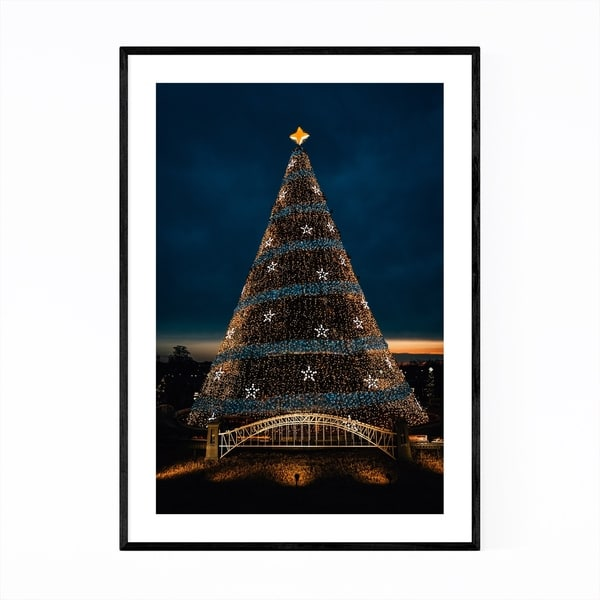 Noir Gallery Washington DC Christmas Tree Framed Art Print