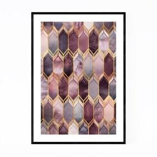 Noir Gallery Geometric Stained Glass Digital Framed Art Print