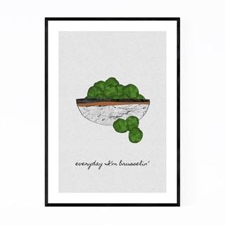 Noir Gallery Vegetables Kitchen Food Cooking Framed Art Print