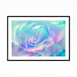 Noir Gallery Abstract Rose Digital Art Floral Framed Art Print