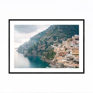 Noir Gallery Positano Italy Amalfi Coast Framed Art Print