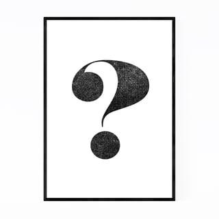 Noir Gallery Question Mark Typography Framed Art Print