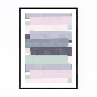 Noir Gallery Pink Abstract Pastel Painting Framed Art Print