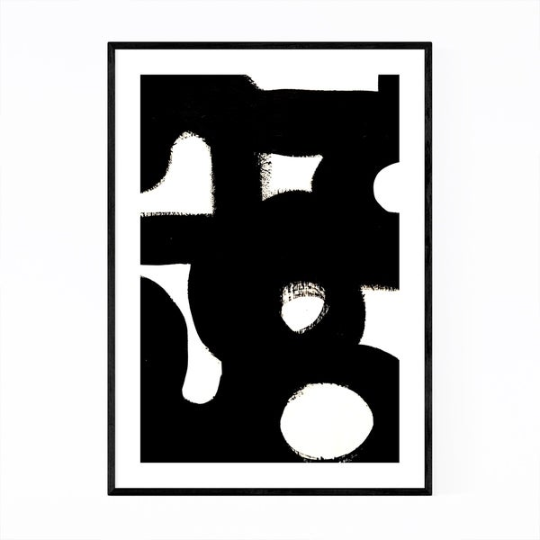 Noir Gallery Abstract Black & White Painting Framed Art Print
