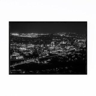Noir Gallery Roanoke Virginia City Skyline Framed Art Print