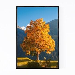 Noir Gallery Guarda Switzerland Lime Tree Framed Art Print