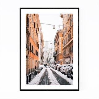 Noir Gallery Rome Italy Snow Winter Prati Framed Art Print