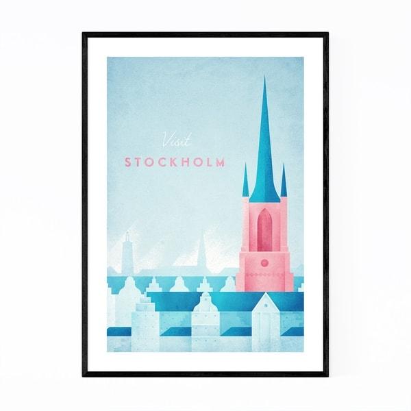 Noir Gallery Minimal Travel Stockholm Sweden Framed Art Print