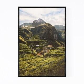 Noir Gallery Amalfi Coast Italy Mountains Framed Art Print
