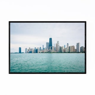Noir Gallery Chicago Skyline Cityscape Photo Framed Art Print