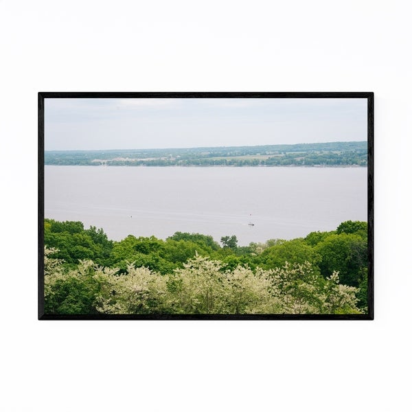 Noir Gallery Peoria Illinois River Landscape Framed Art Print