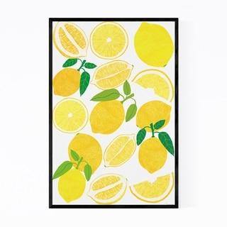 Noir Gallery Lemon Fruit Food Kitchen Framed Art Print