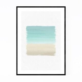 Noir Gallery Abstract Coastal Beach Painting Framed Art Print