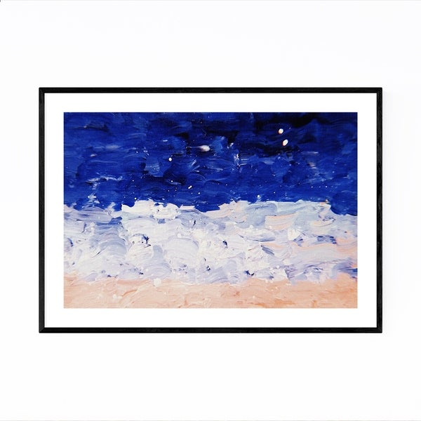 Noir Gallery Blue & Pastel Abstract Painting Framed Art Print