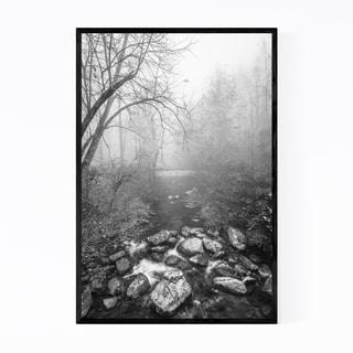 Noir Gallery Black & White Blue Ridge Parkway Framed Art Print
