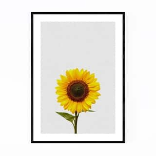 Noir Gallery Sunflower Floral Minimal Yellow Framed Art Print