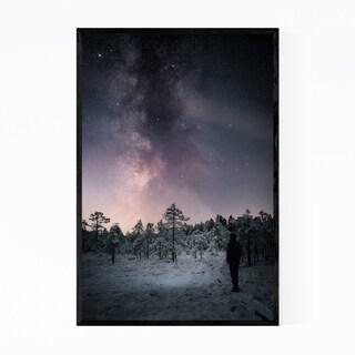 Noir Gallery Milky Way Night Sky Finland Framed Art Print