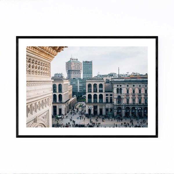 Noir Gallery Milan Italy Cityscape Photo Framed Art Print