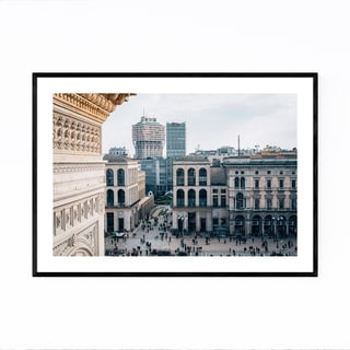 Noir Gallery Milan Italy Cityscape Photo Framed Art Print