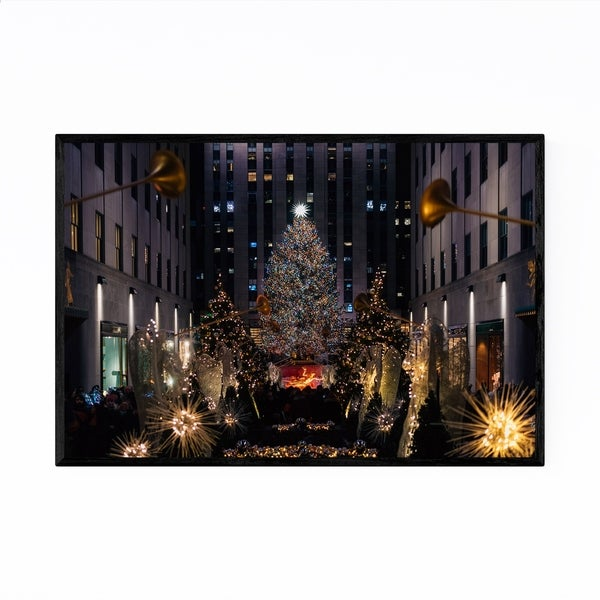 Noir Gallery New York City Christmas Tree Framed Art Print