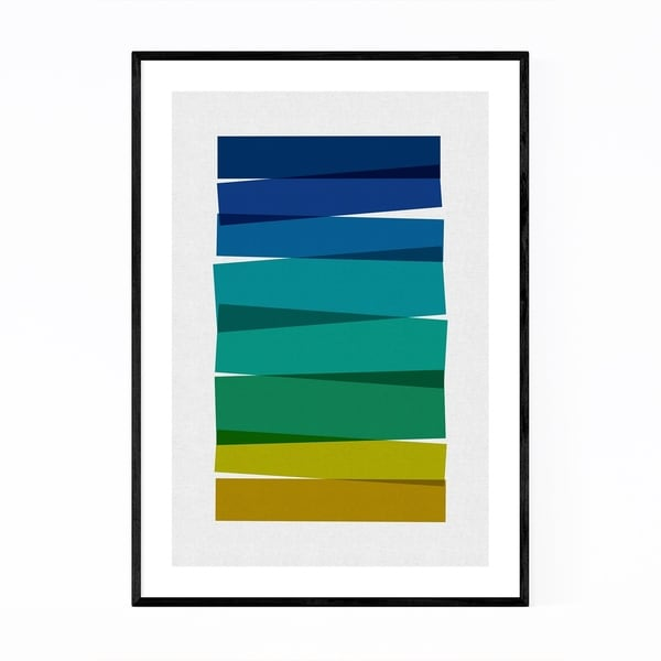 Noir Gallery Abstract Minimal Stripe Painting Framed Art Print