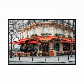 Noir Gallery Brasserie Cafe Paris France  Framed Art Print