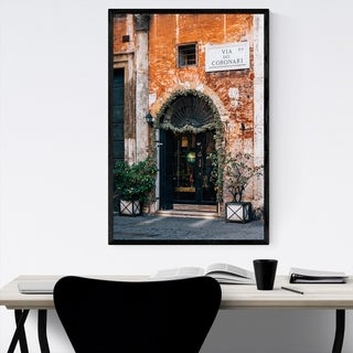 Noir Gallery Rome Italy Photography Framed Art Print