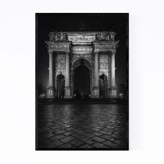 Noir Gallery Black & White Milan Italy Arch Framed Art Print
