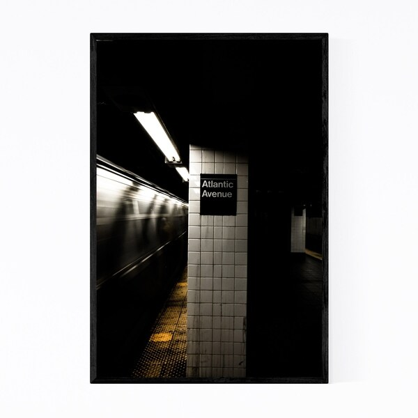 Noir Gallery Brooklyn Atlantic Avenue Subway Framed Art Print