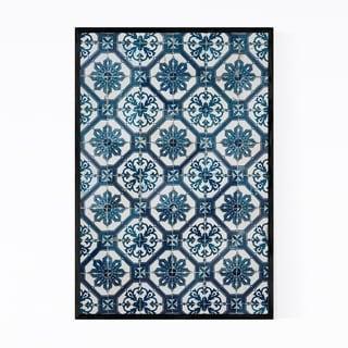Noir Gallery Azulejo Tile Lisbon Pattern Framed Art Print