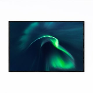 Noir Gallery Northern Lights Aurora Borealis Framed Art Print