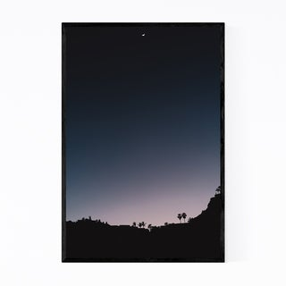 Noir Gallery Hip Minimal Crescent Moon Photo Framed Art Print