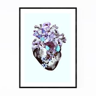 Noir Gallery Floral Heart Illustration Framed Art Print