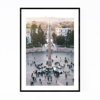 Noir Gallery Rome Italy Piazza del Popolo Framed Art Print