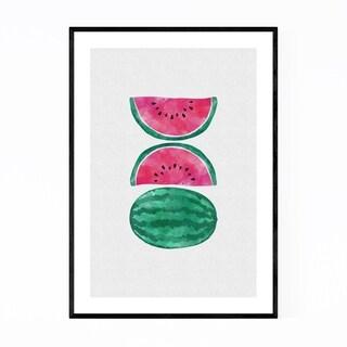Noir Gallery Watermelon Fruit Kitchen Food Framed Art Print