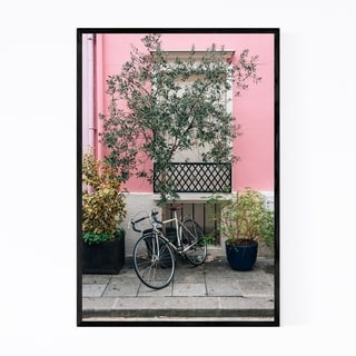 Noir Gallery Bike Pink House Paris France Framed Art Print