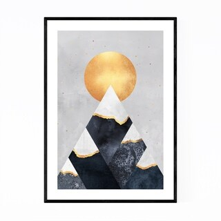 Noir Gallery Mountains Digital Geometric Framed Art Print