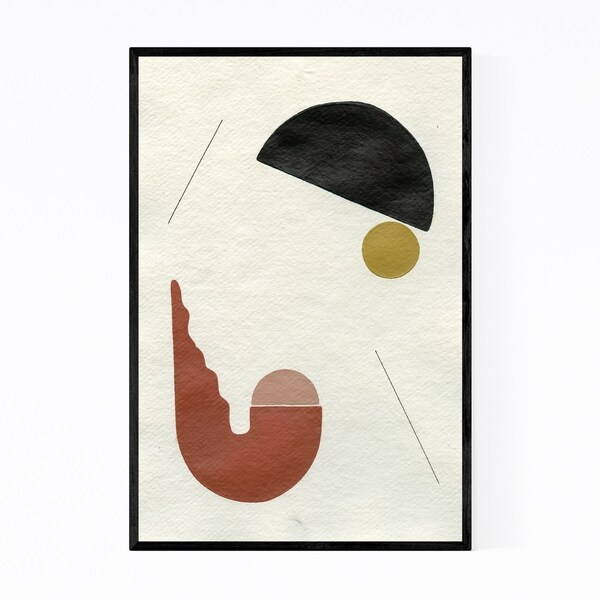 Noir Gallery Abstract Minimal Geometric Moon Framed Art Print