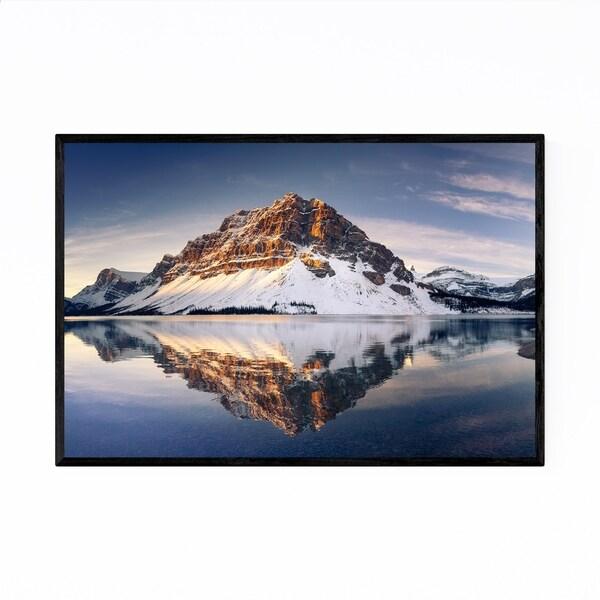 Noir Gallery Bow Lake Banff Park Alberta Framed Art Print