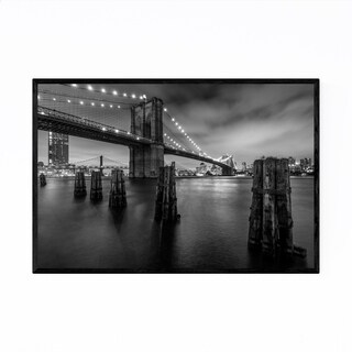 Noir Gallery Brooklyn Bridge New York City Framed Art Print