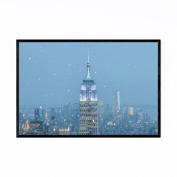 Noir Gallery Empire State New York Skyline Framed Art Print