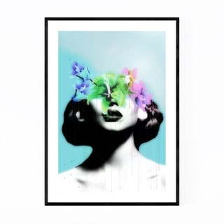Noir Gallery Floral Feminine Collage Framed Art Print