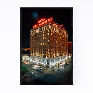 Noir Gallery Peoria, Illinois Hotel Sign Framed Art Print