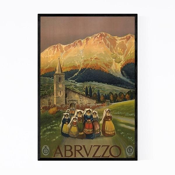 Noir Gallery Abruzzo, Italy Vintage Poster Framed Art Print