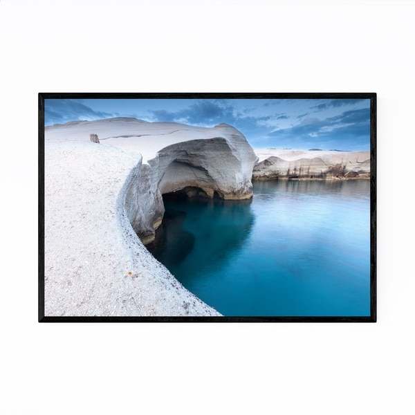 Noir Gallery Milos Greece Coastal Photography Framed Art Print