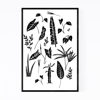 Noir Gallery Floral Botanical Plants Ink Framed Art Print